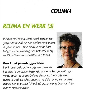 Column Reuma en Werk